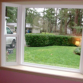 A close up of a window - Milgard Window Installer treatment