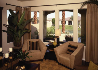 Aluminum Windows - A living room filled with furniture and a large window - Window