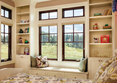 Clad Wood Windows - A bedroom with a large window - Window